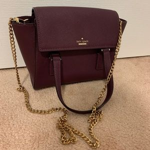Kate Spade Crossbody Bag with Gold Chain